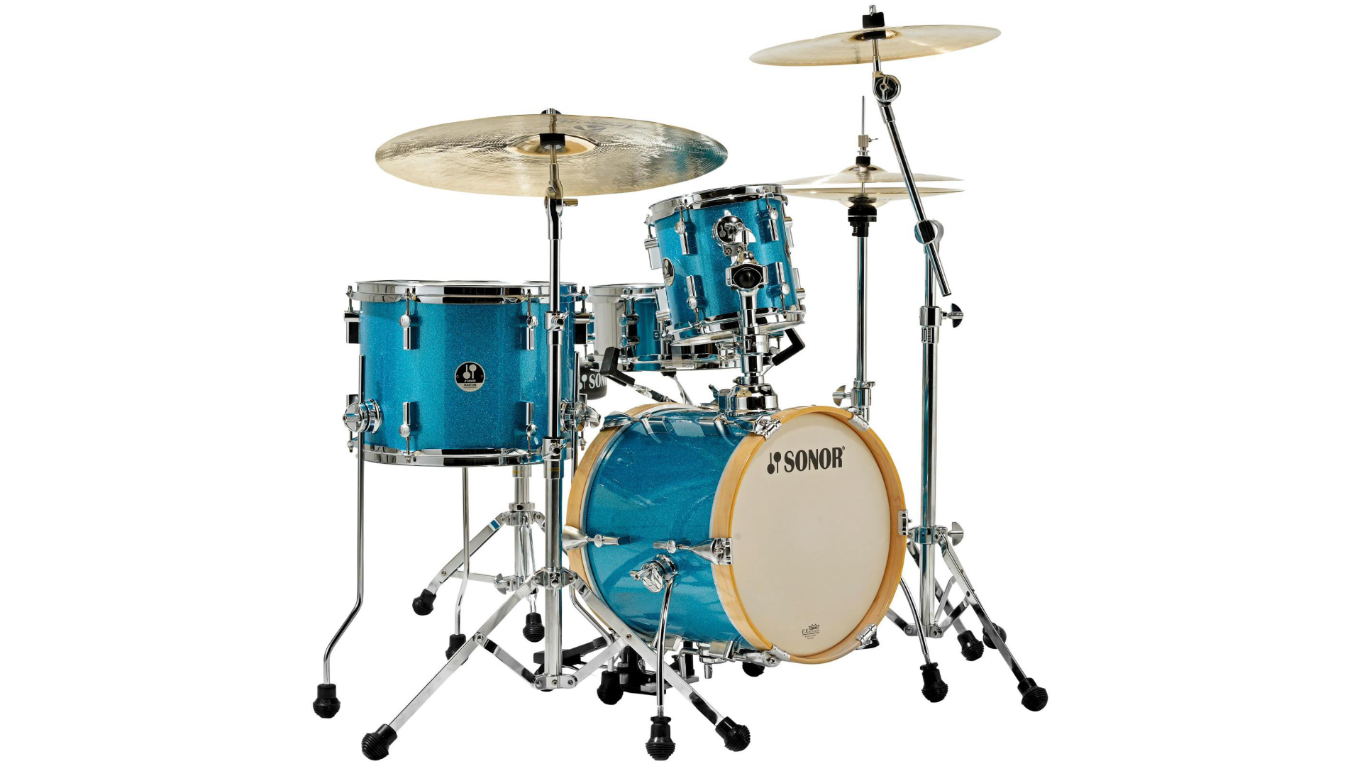 Sonor Martini 4-Piece Shell Pack  Turquoise Galaxy Sparkle