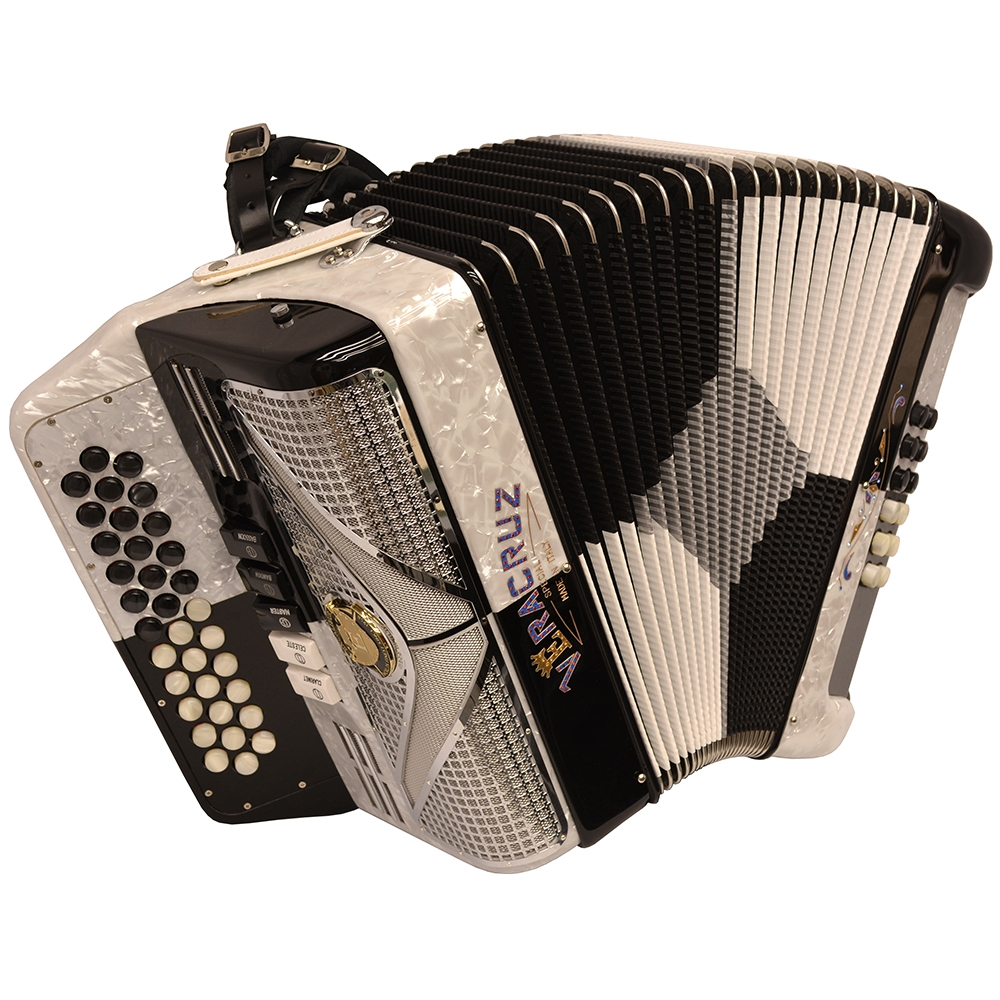 Excalibur Veracruz Special Edition 5 Switch Button Accordion - Black Checker