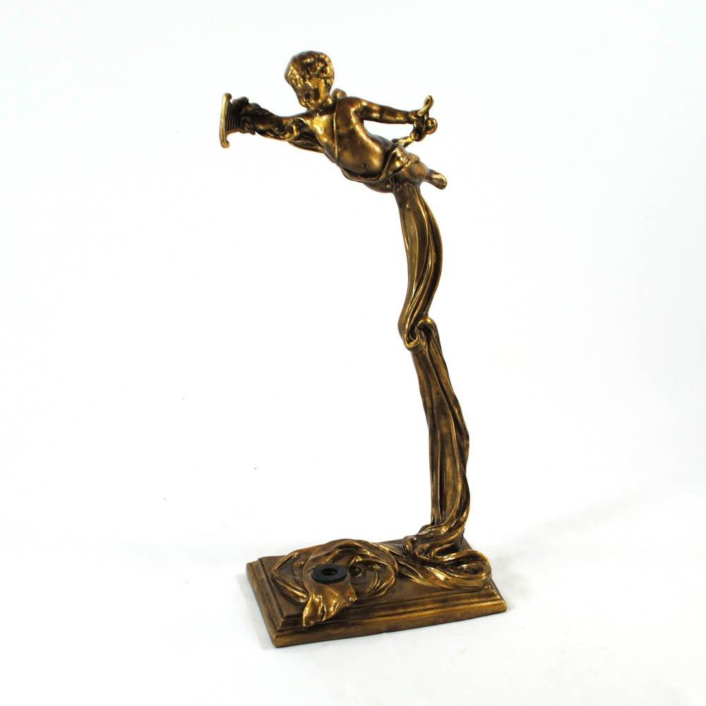 Vienna Strings World Artisan Violin Stand - Greek Harpist - Aged Gold