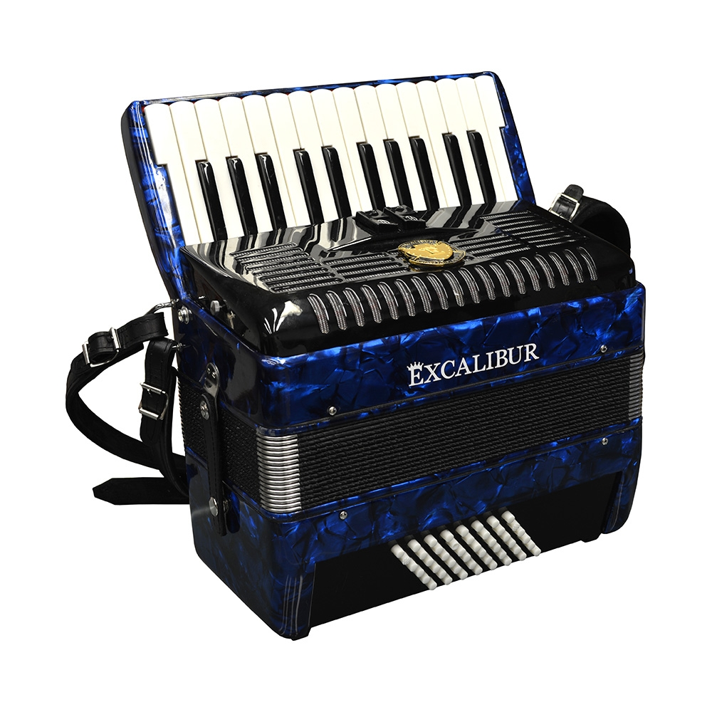 Excalibur German Weltbesten Ultralite 48 Bass Piano Accordion - Pearl Blue