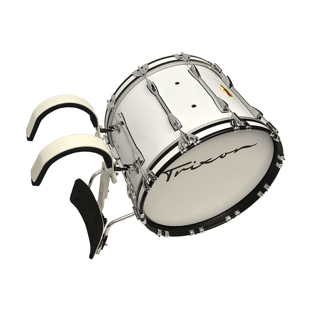 Trixon Pro Marching Bass Drum 24x14 white