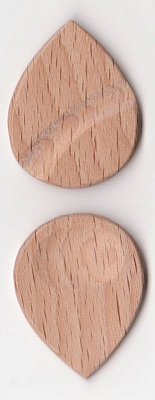 Thicket Wooden Guitar Pick - Thumb & Finger Groove - White Beech - Pack of Three