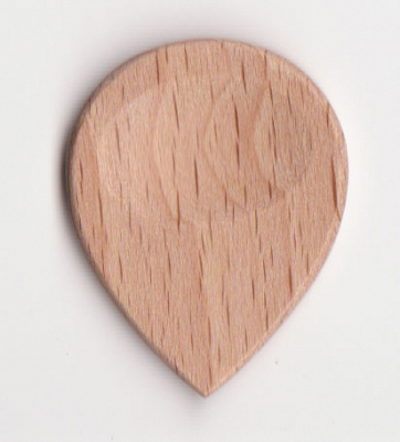 Thicket Wooden Guitar Pick with Thumb Groove - White Beech - Pack of 3