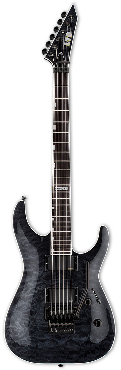 ESP LTD MH-401FR See Thru Black Electric Guitar