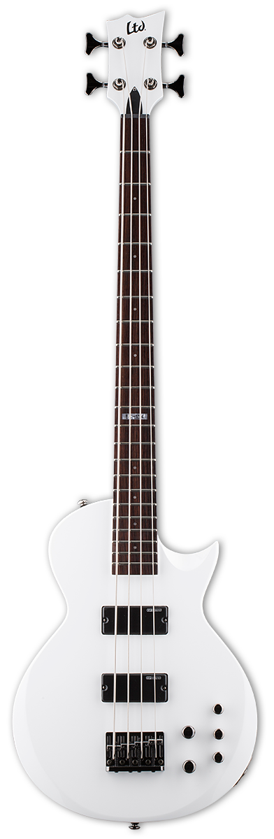 ESP LTD EC-154 Snow White Bass Guitar