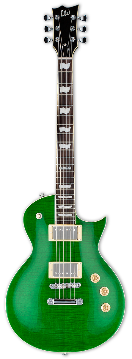 ESP LTD EC-256FM See Thru Green Electric Guitar