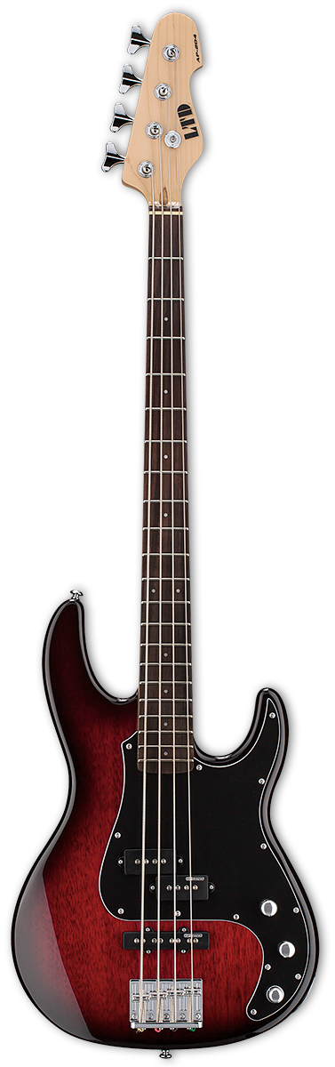 ESP LTD AP-204 Burgundy Burst Bass Guitar