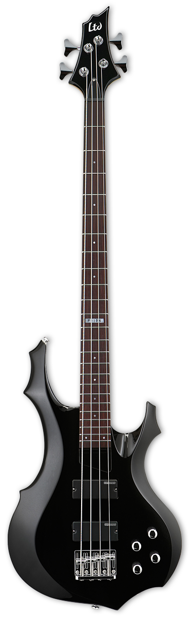 ESP LTD F-104 Black Bass Guitar