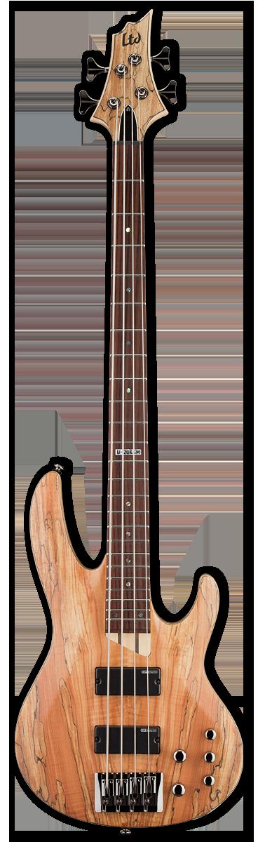 ESP LTD B-204SM Natural Satin Bass Guitar