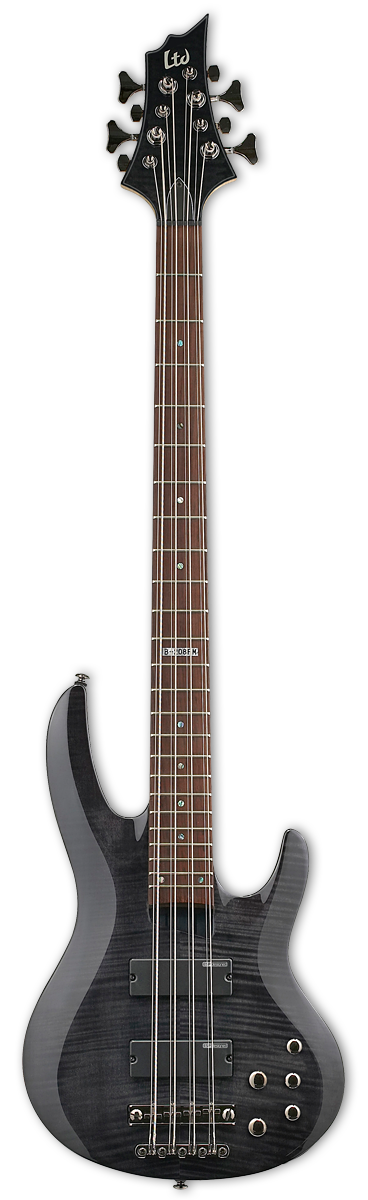 ESP LTD B-208 See Thru Black Bass Guitar