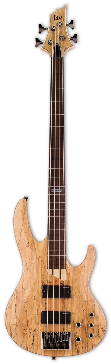 ESP LTD B-204SM Fretless Natural Satin Bass Guitar