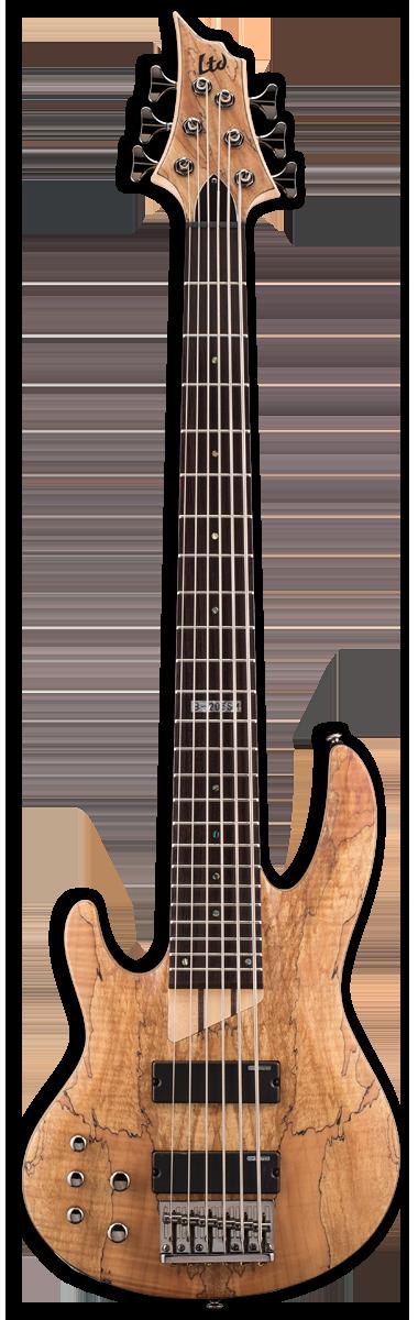ESP LTD B-206SM LH Natural Satin Bass Guitar