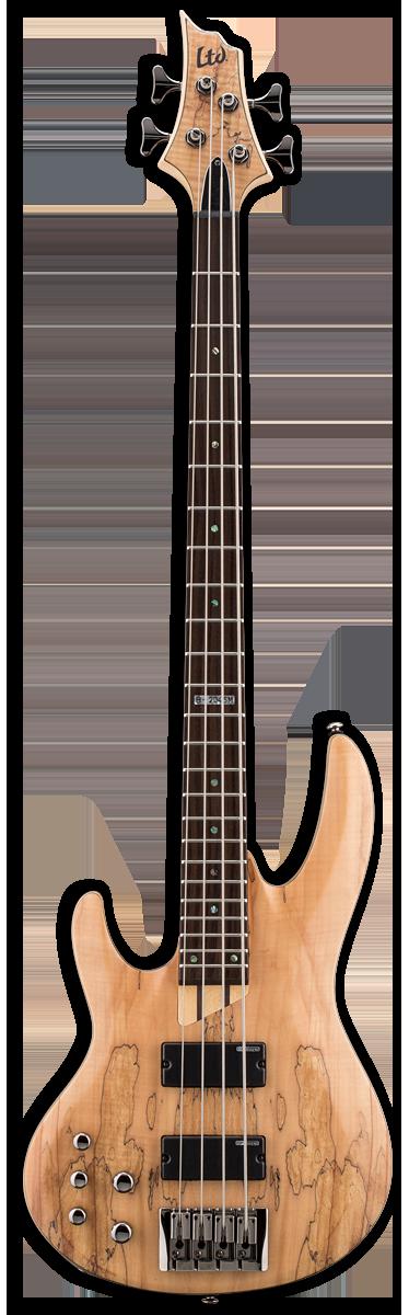 ESP LTD B-204SM LH Natural Satin Bass Guitar