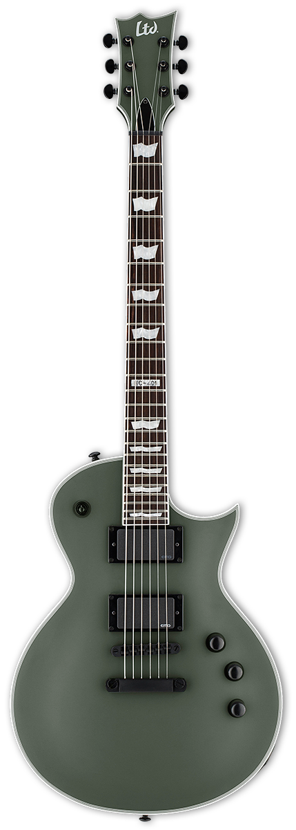 ESP LTD EC-401 Military Green Satin Electric Guitar