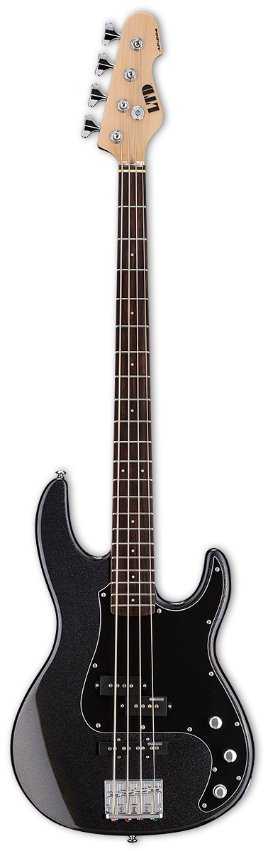 ESP LTD AP-204 Charcoal Metallic Bass Guitar
