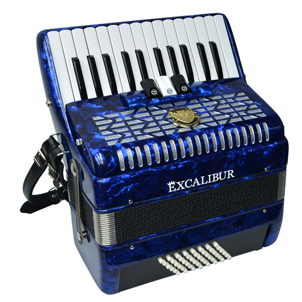 Excalibur Frankfurt 48 Bass Ultralite Accordion - Pearl Dark Blue