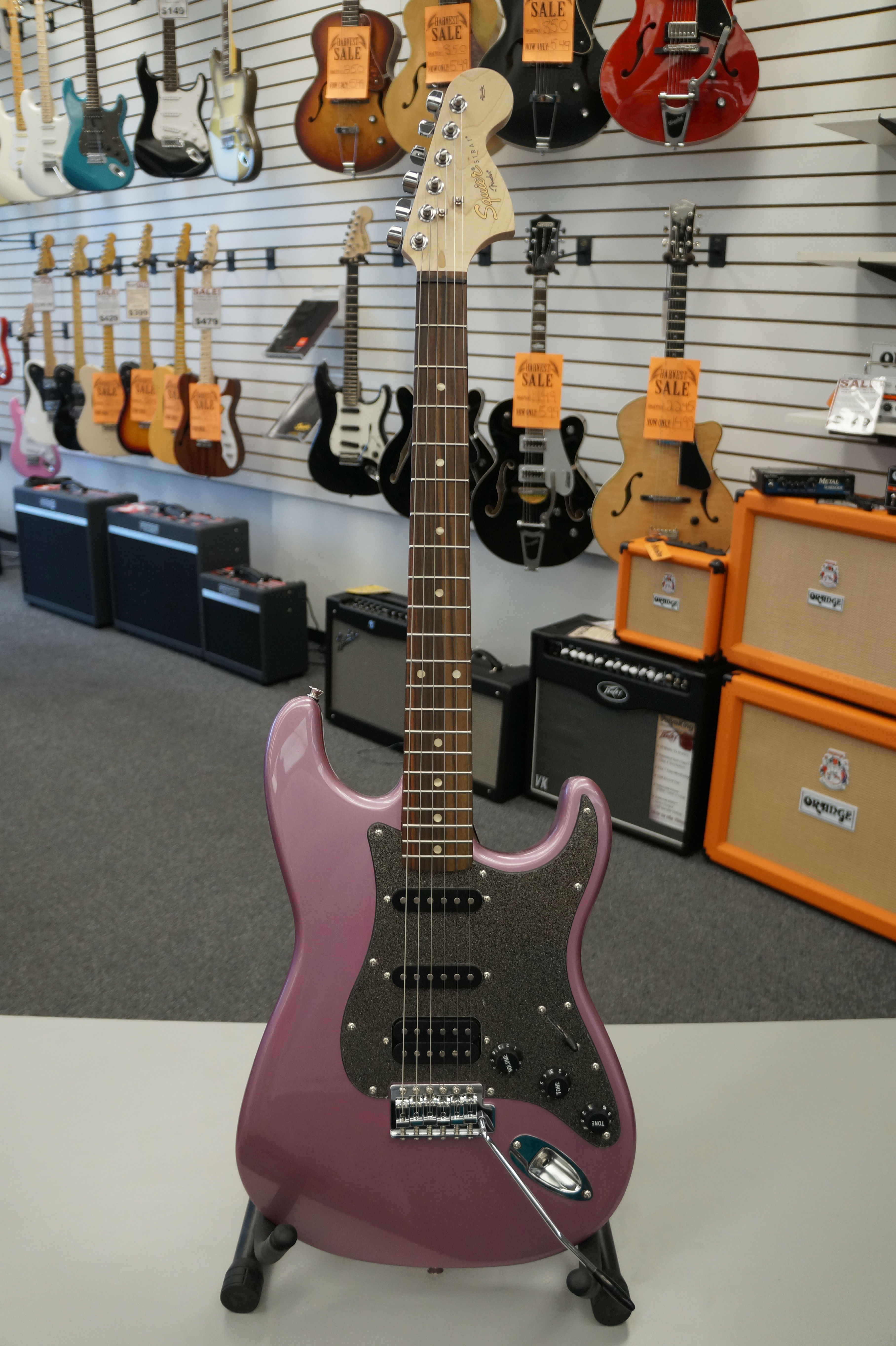 Fender® Squier® Affinity Series™ Stratocaster® HSS Electric Guitar  Burghandy Mist - Jim Laabs Music Store