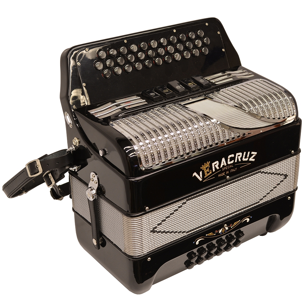 Excalibur Veracruz Special Italy Edition 5 Switch Button Accordion Black/Grey