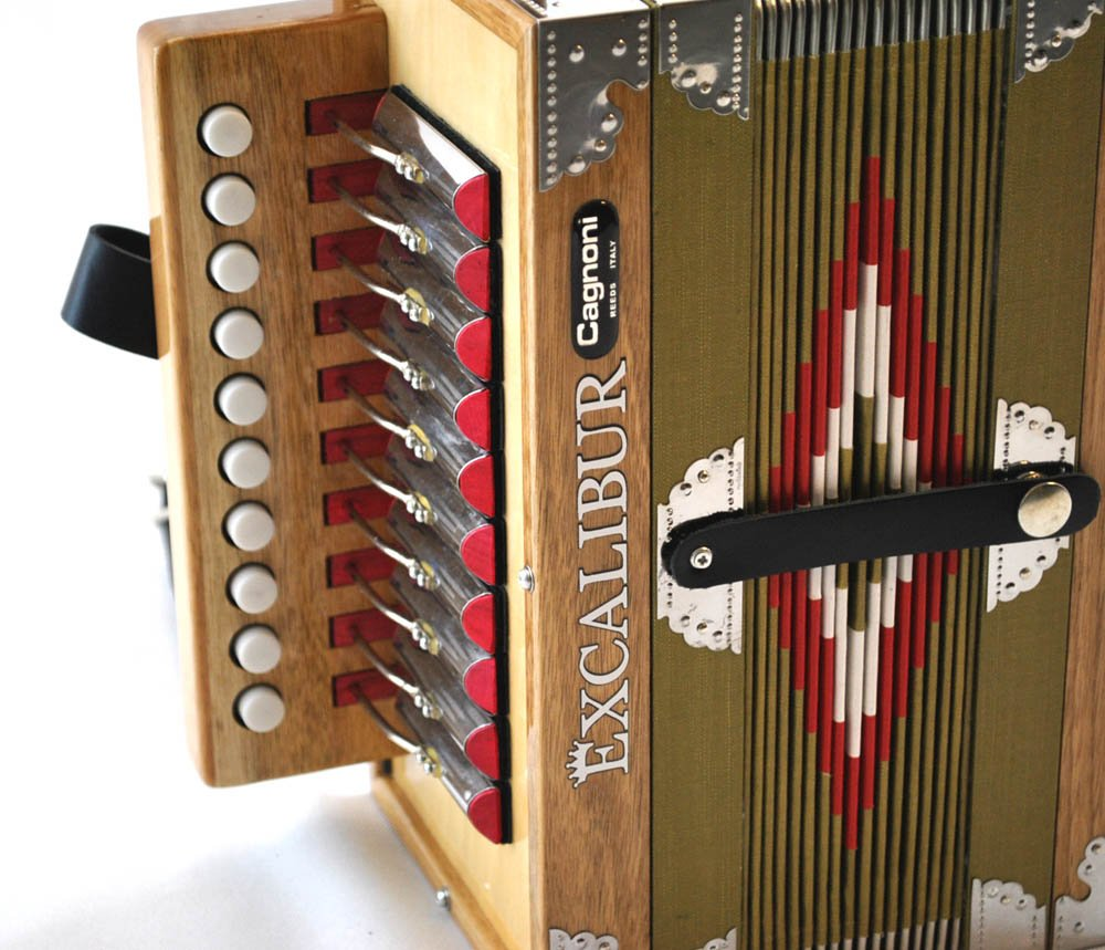 Excalibur North American Series Cajun Acadia Open Face Button Accordion