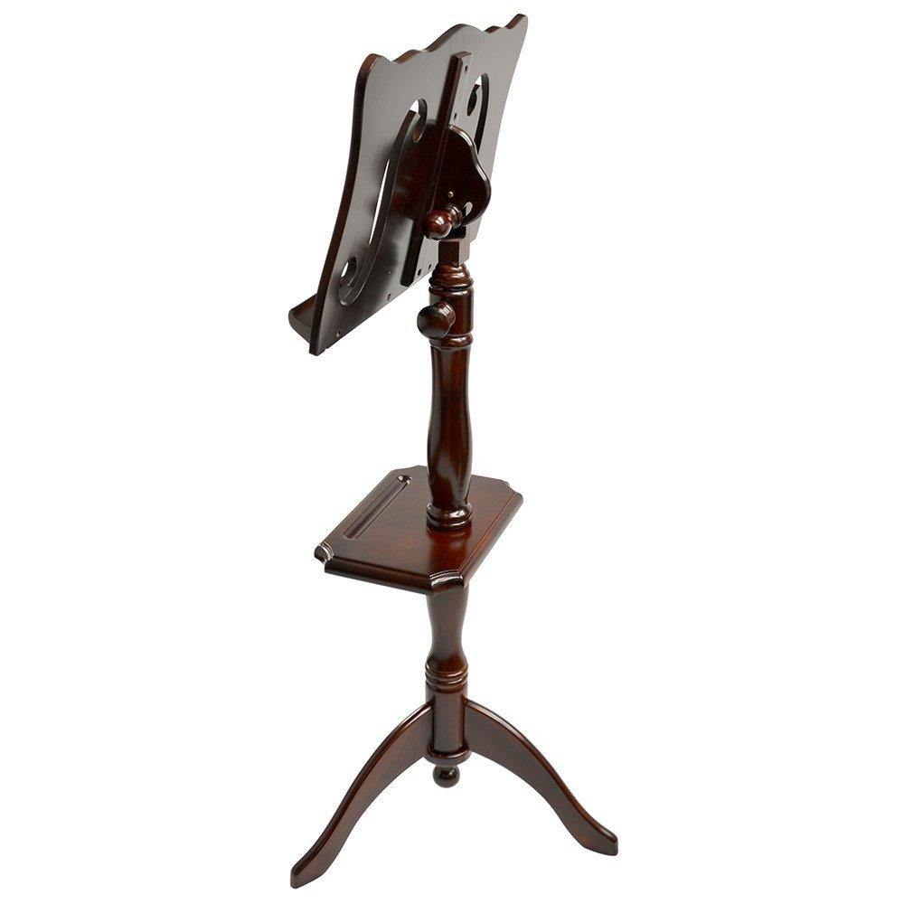 Adjustable Music Stand : frederick adjustable music stand with rack cherry mahogany f hole style jim laabs music store ~ Hamham.info Haus und Dekorationen