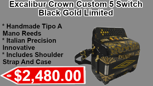 Excalibur Crown Custom 5 Switch Black Gold Limited on sale