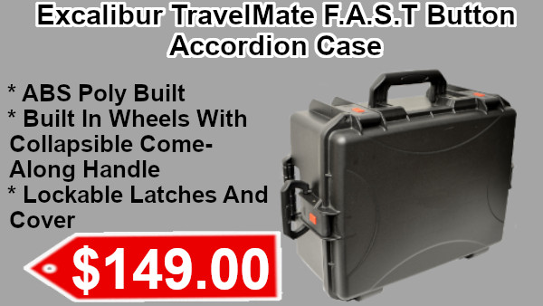 Excalibur TravelMate F.A.S.T. Button Accordion Case on sale