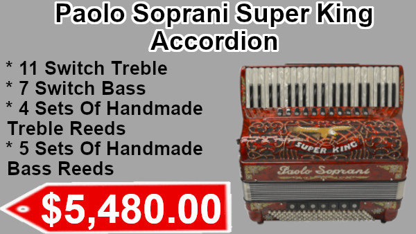 Paolo Soprani Super King Accordion on sale