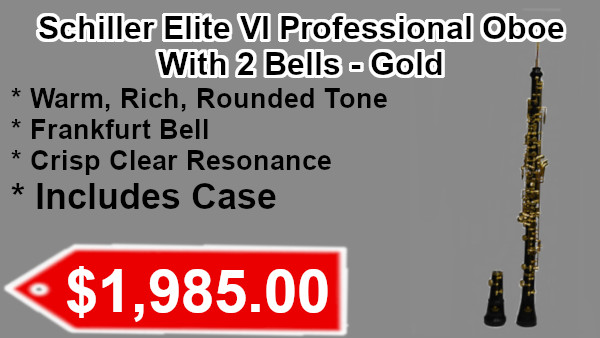 Schiller Elite VI Professional Oboe with 2 Bells - Gold on sale