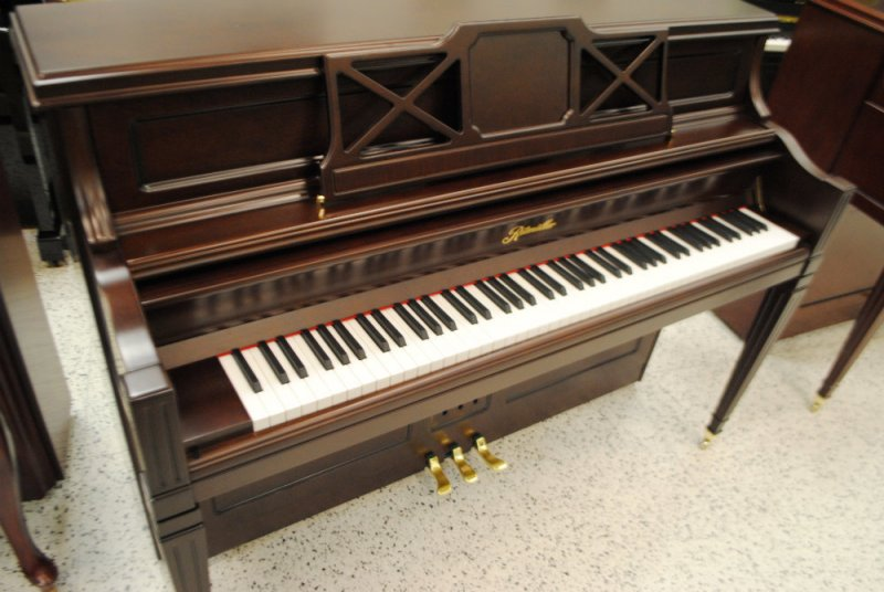 Ritmuller Decorator Console PIano - Coffee Walnut Semi-Satin