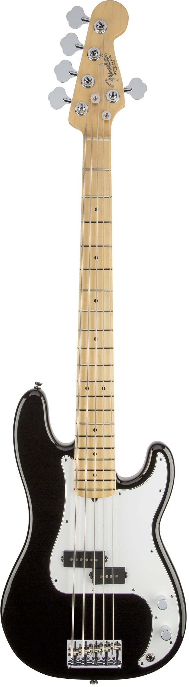 Fender American Standard Precision Bass® V Black Maple Fingerboard Electric Bass Guitar