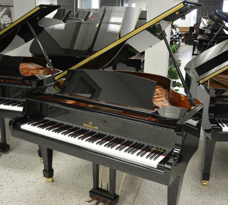 Schiller Concert Grand Piano 5.5 - Ebony Polish