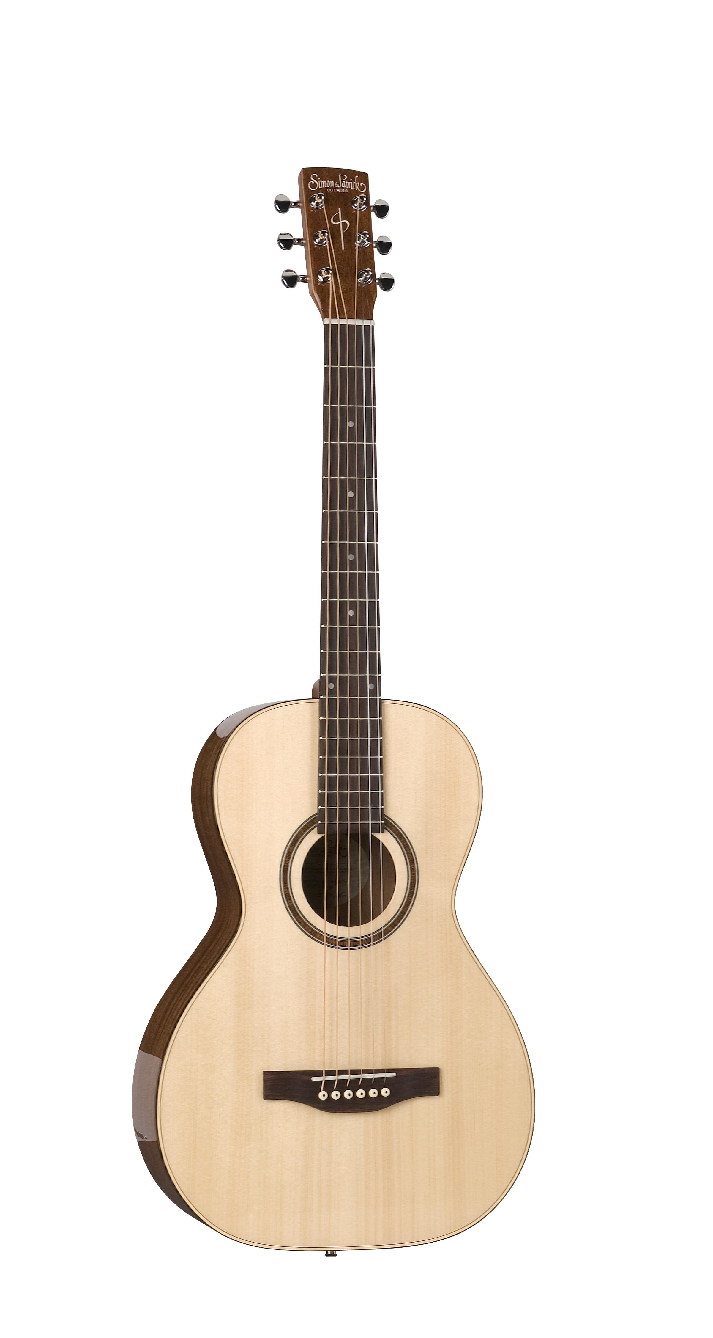 Simon & Patrick 33690 Woodland Pro Parlor Spruce Acoustic Guitar