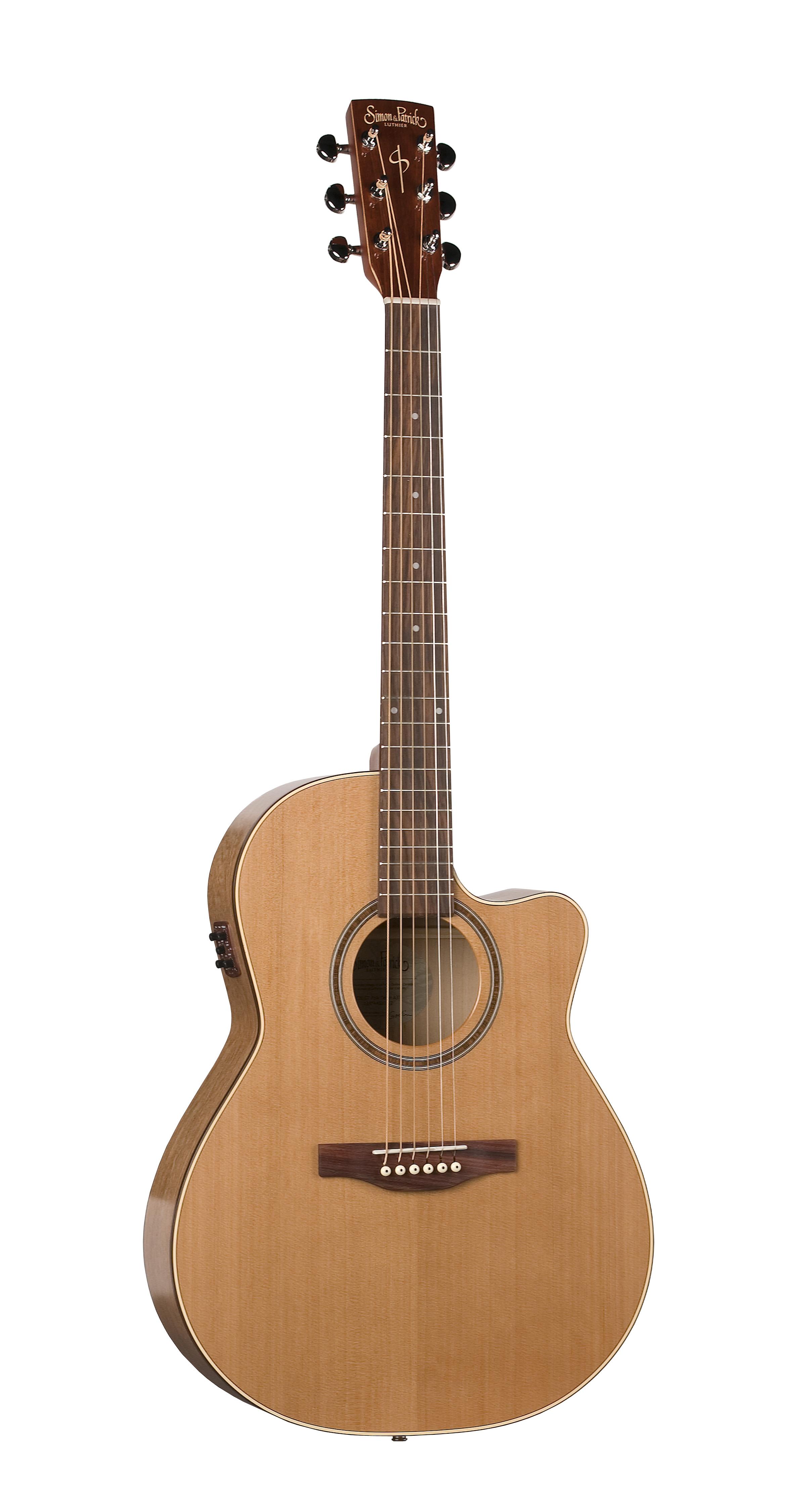 Simon & Patrick 33744 Cedar Gloss Top (GT) Cutaway Folk Acoustic Electric Guitar w/ B-band A3T