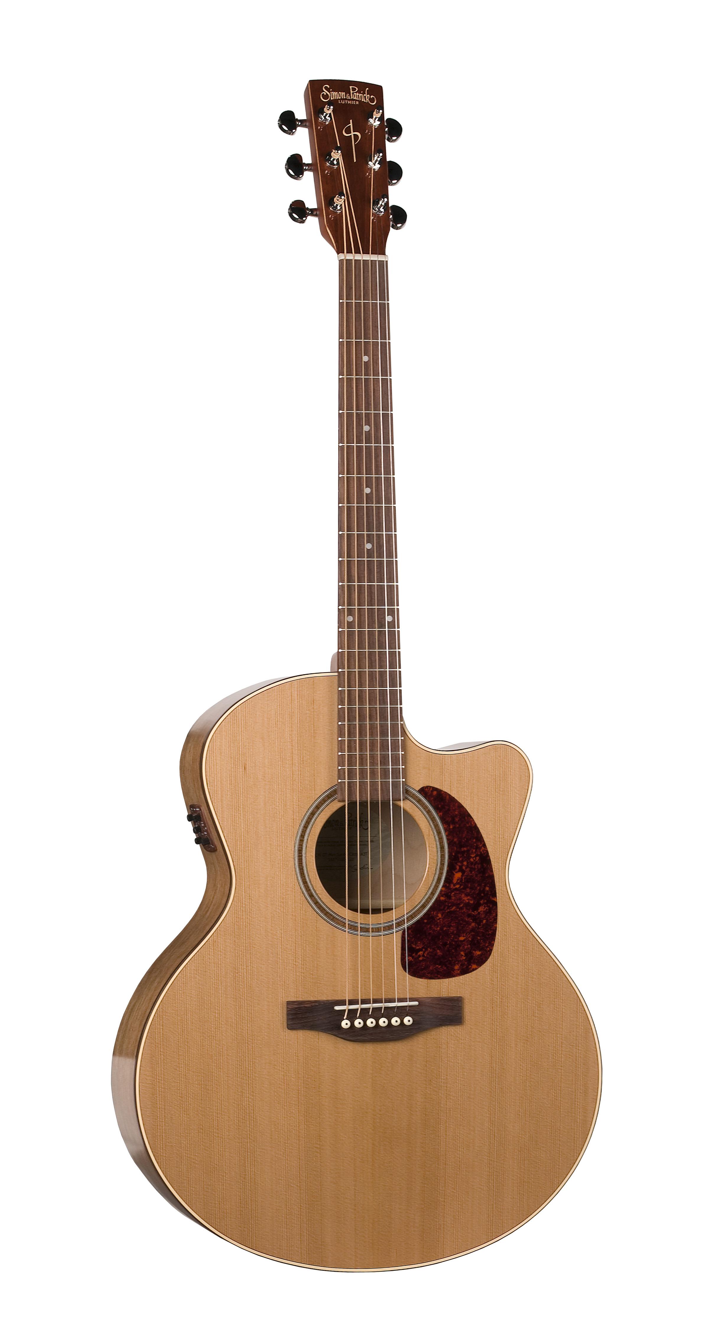 Simon & Patrick 33751 Cedar Gloss Top (GT) Cutaway Mini-Jumbo Acoustic Electric Guitar w/ B-band A3T