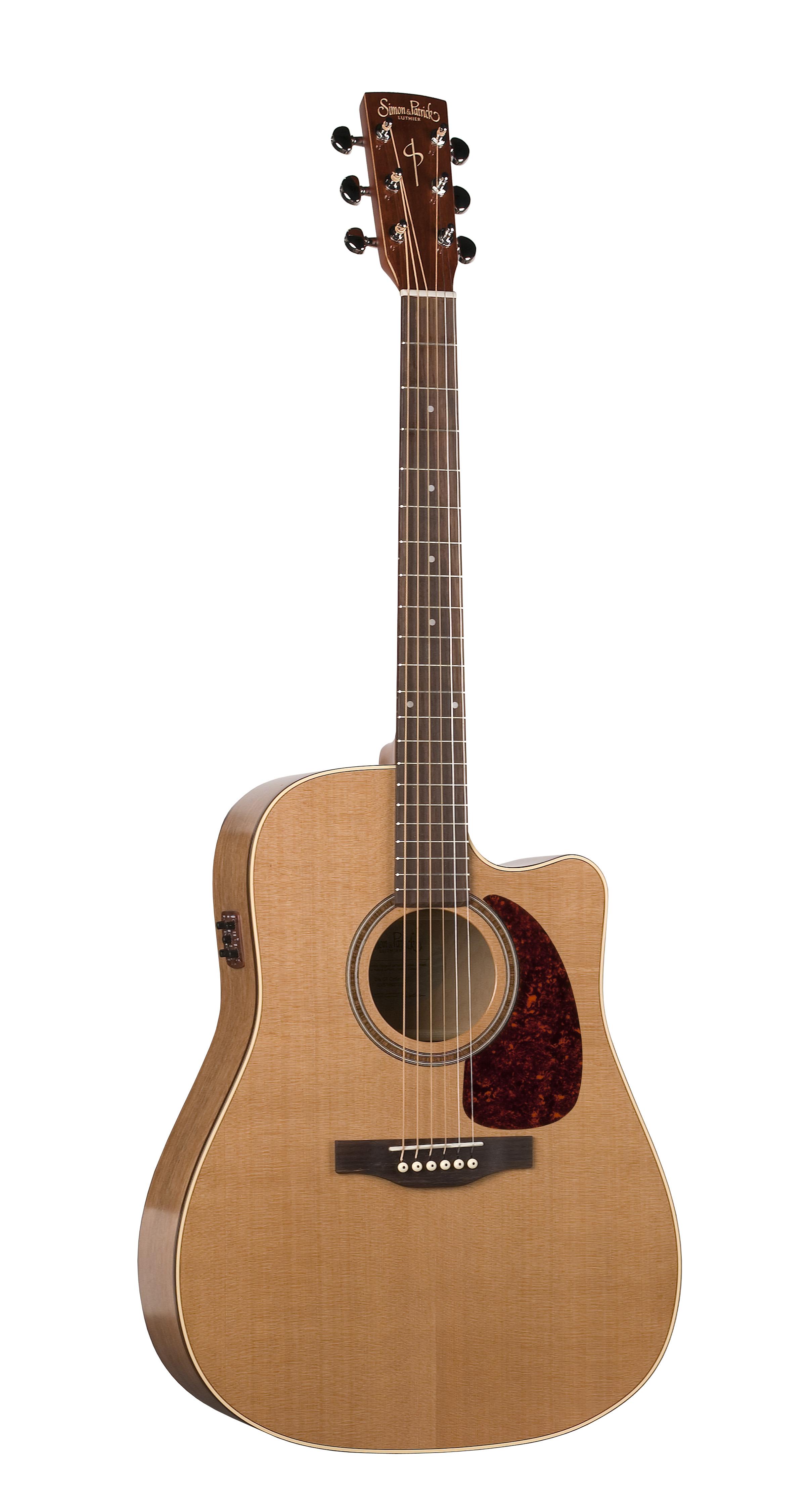 Simon & Patrick 33768 Cedar Gloss Top (GT) Dreadnought Acoustic Electric Guitar w/ B-band A3T