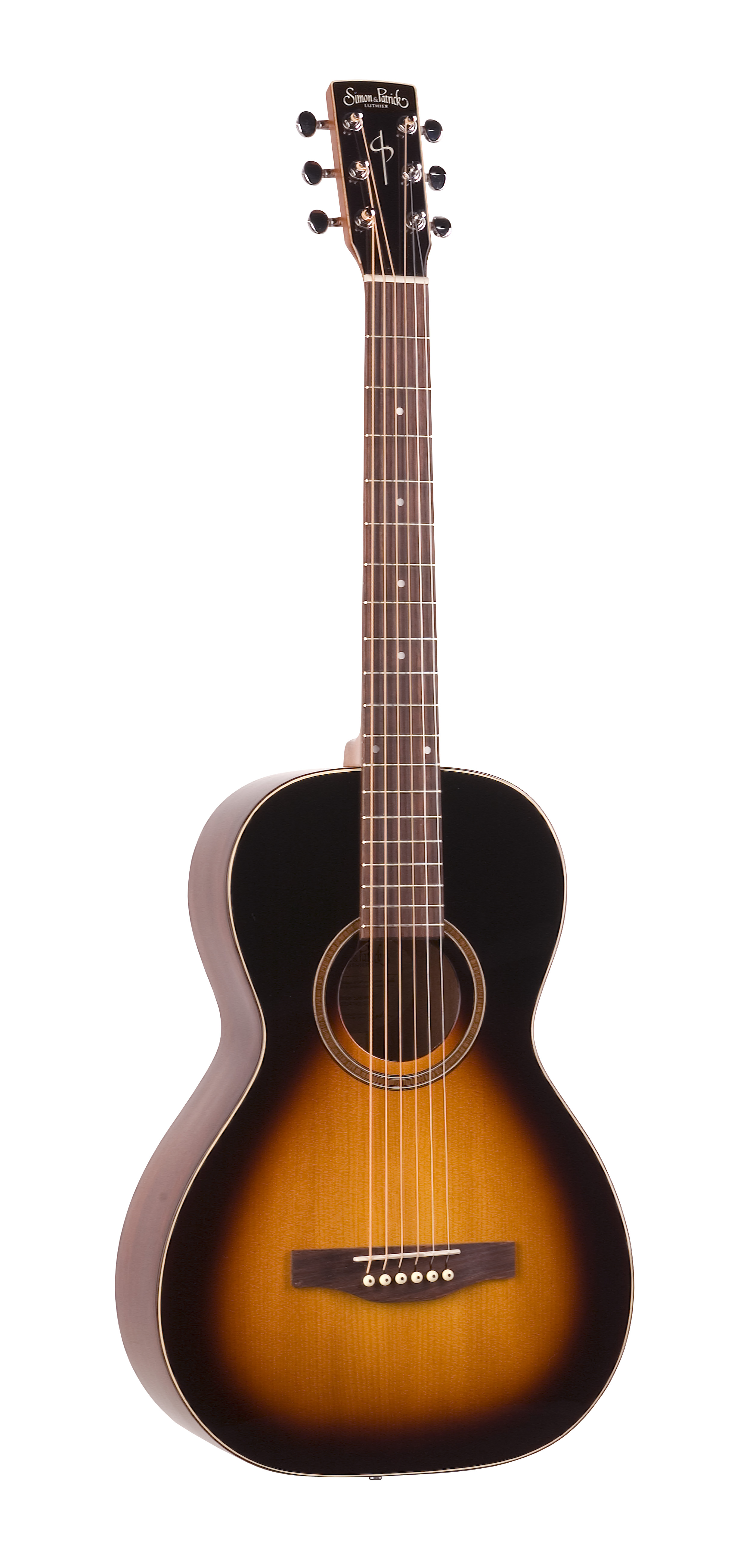 Simon & Patrick 35151 Woodland Pro Parlor Sunburst Acoustic Guitar