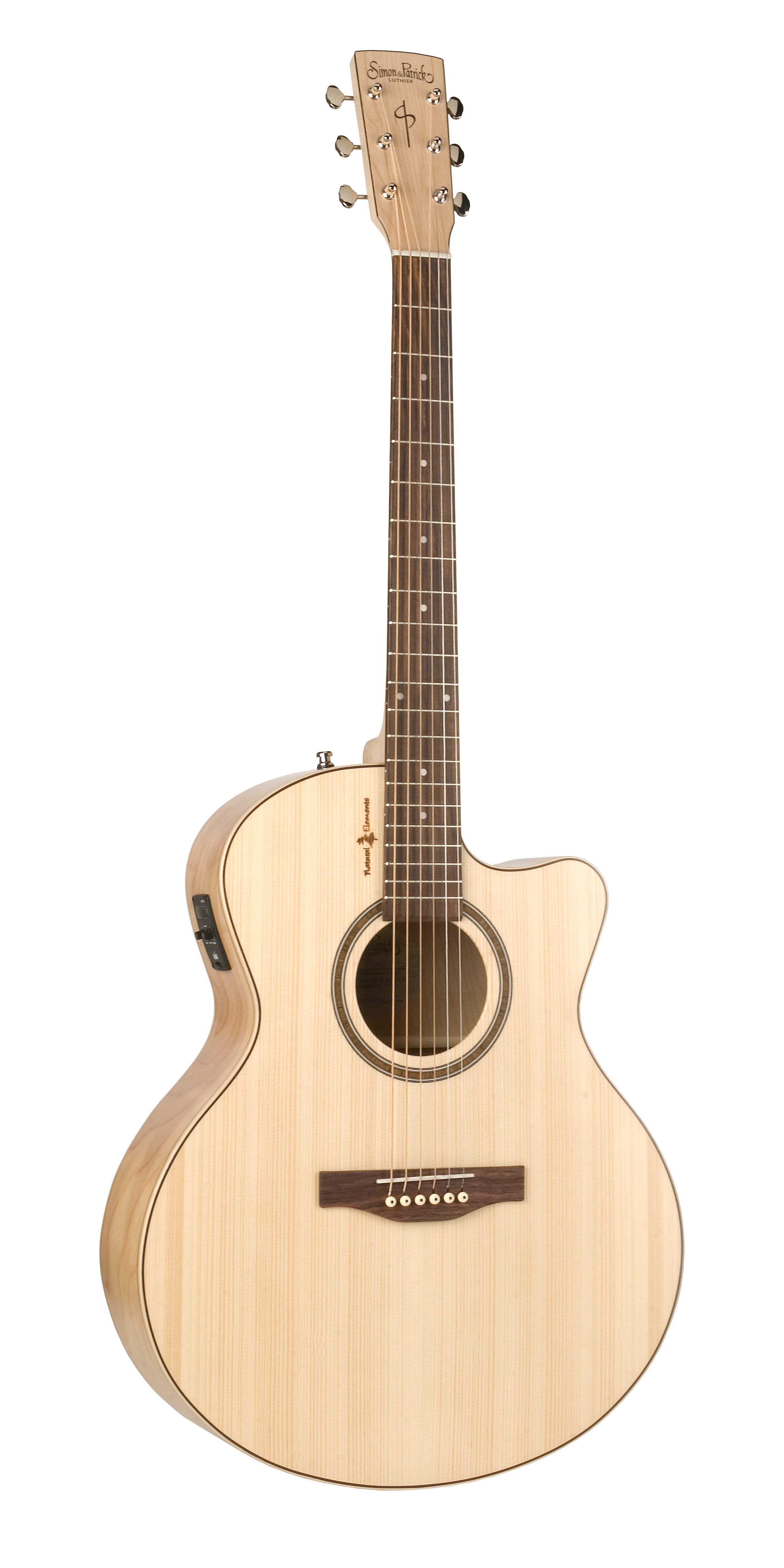 Simon & Patrick 36349 Natural Elements Heart of Wild Cherry Cutaway Mini-Jumbo Acoustic Electric Guitar w/ B-band T35