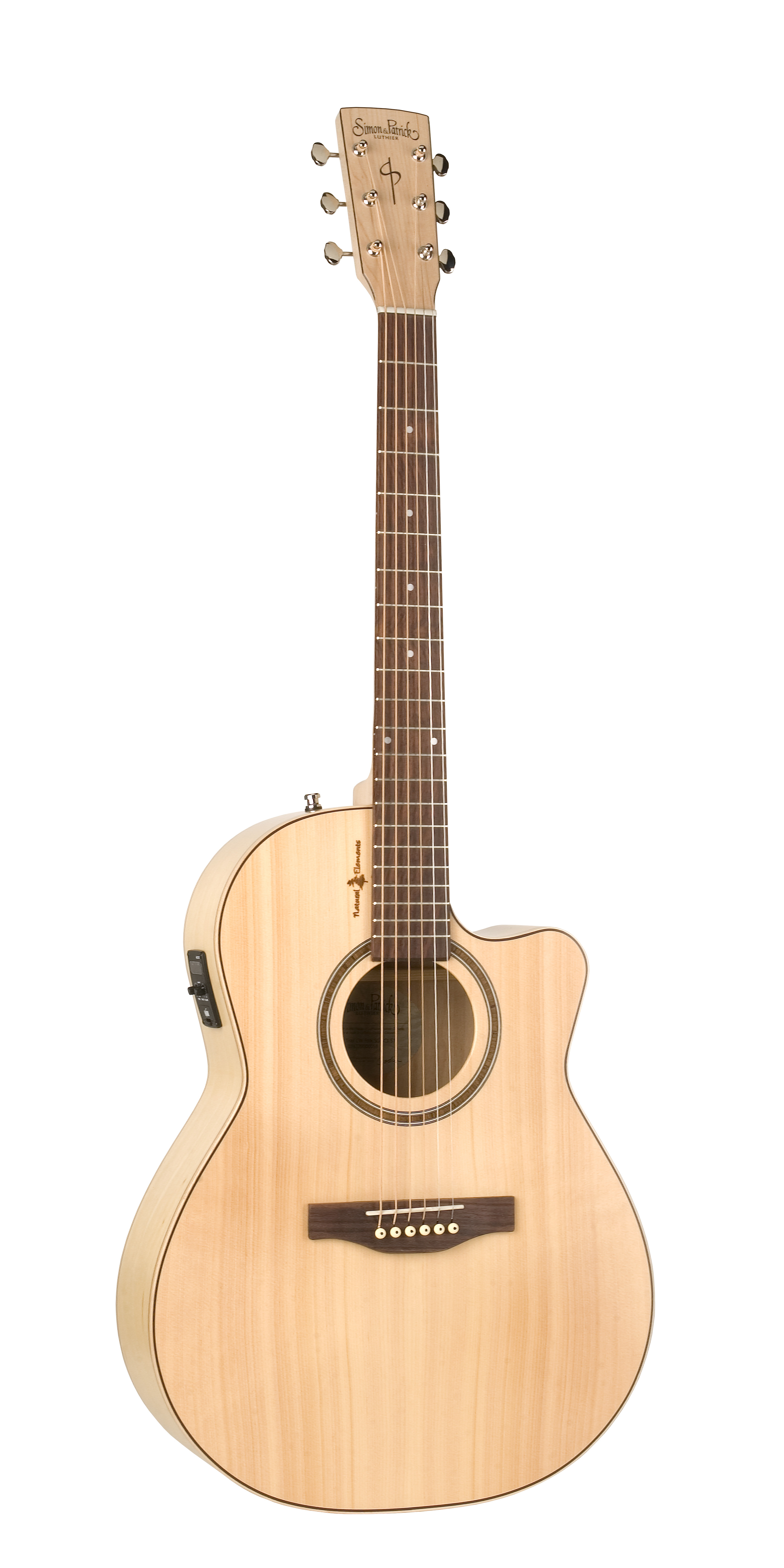 Simon & Patrick 36370 Natural Elements Amber Trail Cutaway Folk Acoustic Electric Guitar w/ B-band T35