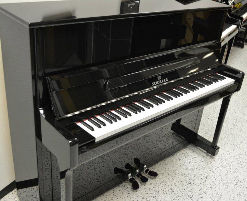 Schiller Concert Upright Piano - Ebony Polish