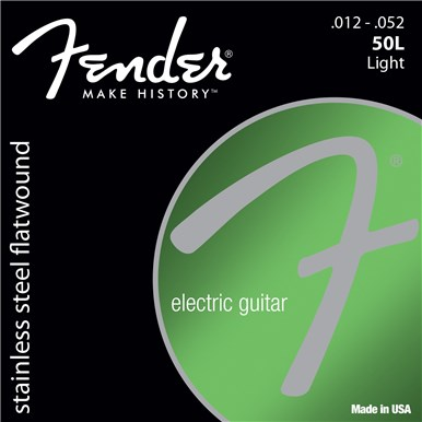 Fender STAINLESS FLATWOUND ELECTRIC GUITAR STRINGS - .012-.052