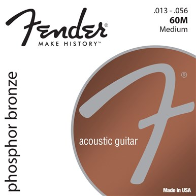 FENDER PHOSPHOR BRONZE ACOUSTIC GUITAR STRINGS - .013-.056