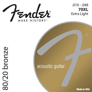Fender 80/20 BRONZE ACOUSTIC STRINGS - 3-PACK - .010-.048
