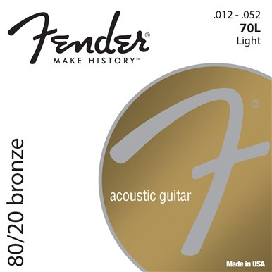 Fender 80/20 BRONZE ACOUSTIC STRINGS - 3-PACK - .012-.052