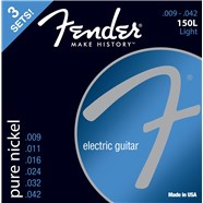 FENDER® ORIGINAL PURE NICKEL 150 GUITAR STRINGS - .009-.042 - 3-PACK