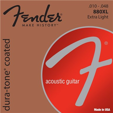 Fender 80/20 COATED ACOUSTIC GUITAR STRINGS - .010-.048