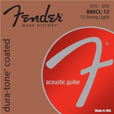 Fender 80/20 COATED ACOUSTIC GUITAR STRINGS - .010-.050