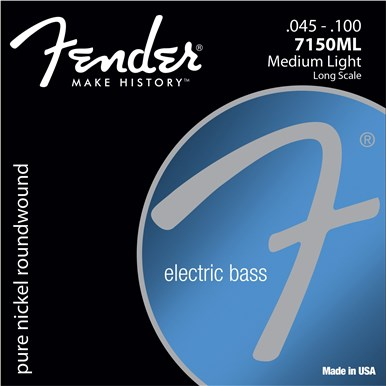 Fender 7150 PURE NICKEL BASS STRINGS - .045-.100