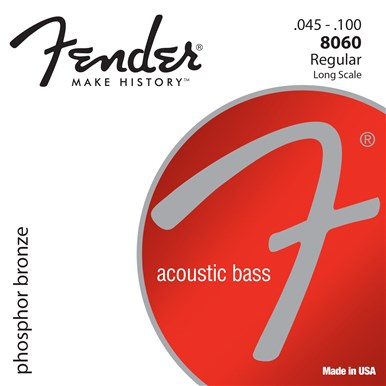 Fender 8060 PHOSPHOR BRONZE ACOUSTIC BASS STRINGS - LONG SCALE - .045-.100