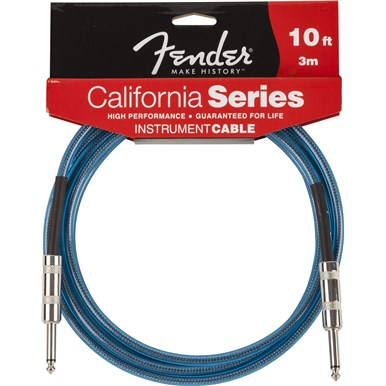 FENDER® CALIFORNIA INSTRUMENT CABLES - Lake Placid Blue - 10 ft