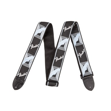 Fender® 2 Inch Monogrammed Guitar Strap - Black/Light Grey/ Dark Grey Strap